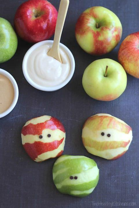 Healthy Halloween Apples