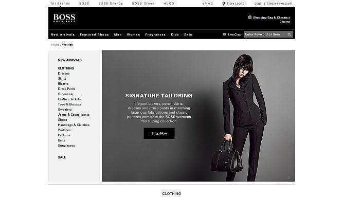 hugo boss official website