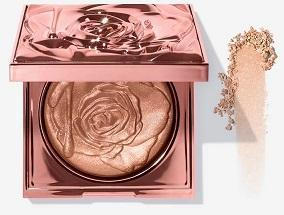 A collection of gel-powder highlighters that wrap skin in ultra-flattering, rose-gold radiance.